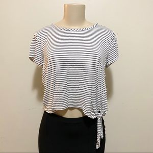 Olivia Rae stripped black/white top, size large